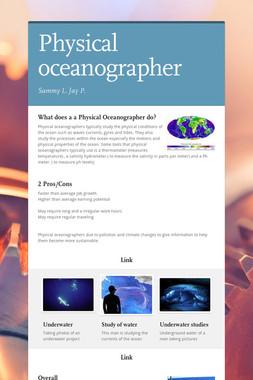 Physical oceanographer