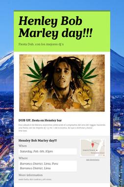 Henley Bob Marley day!!!