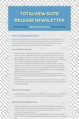 Totalview Suite Release Newsletter