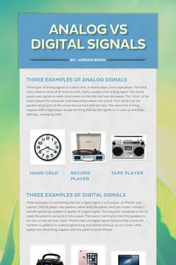 Analog VS Digital signals