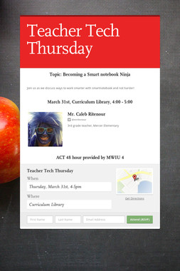 Teacher Tech Thursday