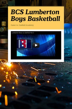 BCS Lumberton Boys Basketball