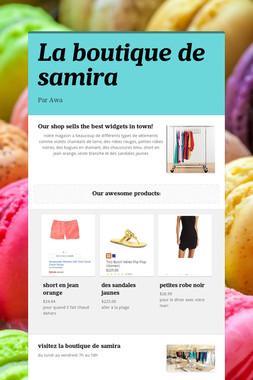 La boutique de samira
