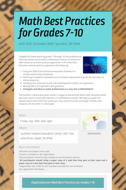 Math Best Practices for Grades 7-10