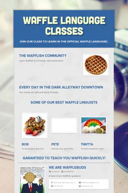 Waffle Language Classes