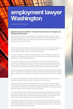employment lawyer Washington