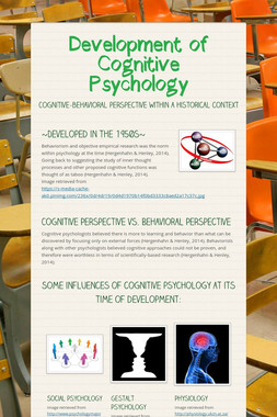 Development of Cognitive Psychology