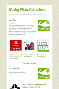 Moby Max Activities