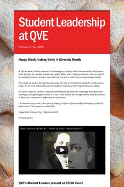 Student Leadership at QVE