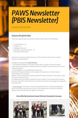 PAWS Newsletter (PBIS Newsletter)