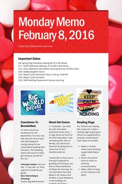 Monday Memo February 8, 2016
