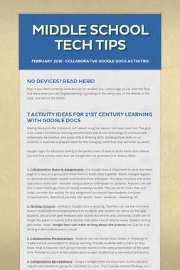 Middle School Tech Tips