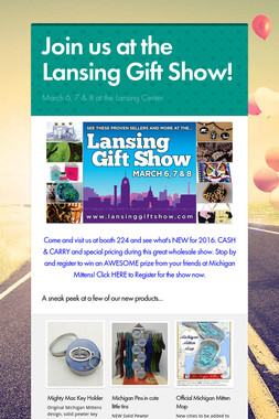 Join us at the Lansing Gift Show!
