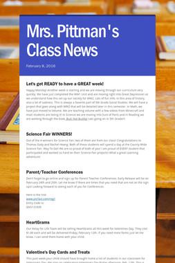 Mrs. Pittman's Class News
