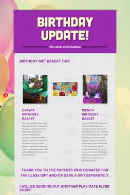 BIRTHDAY UPDATE!