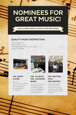 Nominees for Great Music!