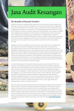 Jasa Audit Keuangan