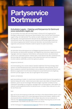Partyservice Dortmund