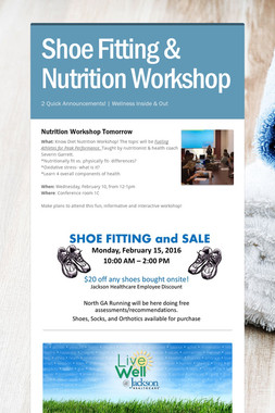 Shoe Fitting & Nutrition Workshop