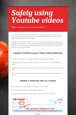 Safely using Youtube videos