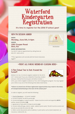 Waterford Kindergarten Registration