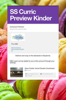 SS Curric Preview Kinder