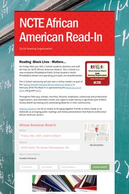 NCTE African American Read-In