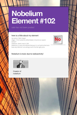 Nobelium Element #102