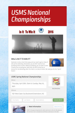 USMS National Championships