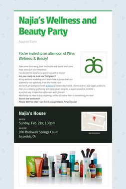 Najia's Wellness and Beauty Party