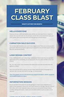 February Class Blast