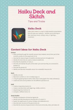 Haiku Deck and Skitch