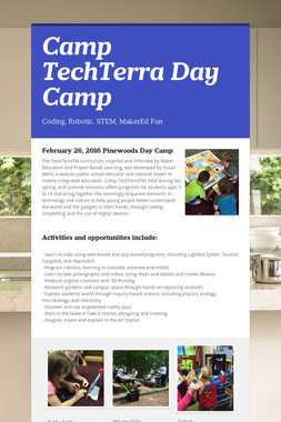 Camp TechTerra Day Camp
