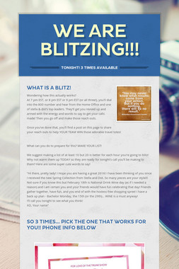 We are BLITZING!!!