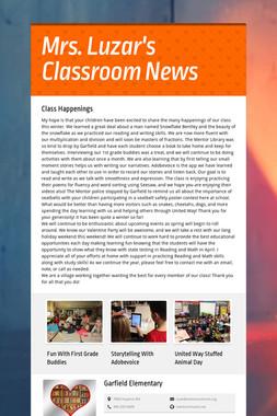 Mrs. Luzar's Classroom News