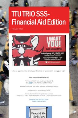 TTU TRIO SSS- Financial Aid Edition