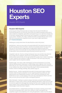 Houston SEO Experts