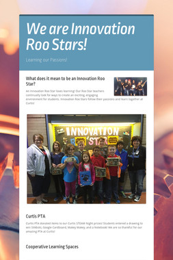We are Innovation Roo Stars!