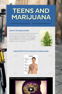 Teens and Marijuana