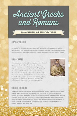 Ancient Greeks and Romans