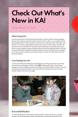 Check Out What's New in KA!