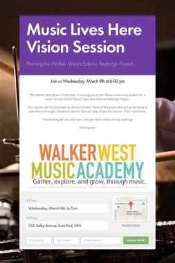 Music Lives Here Vision Session