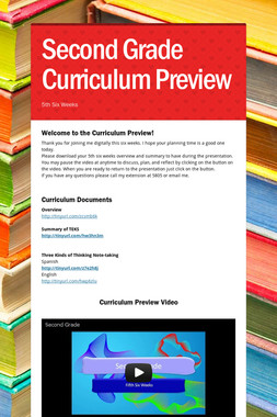 Second Grade Curriculum Preview