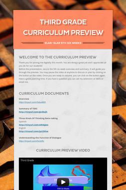 Third Grade Curriculum Preview