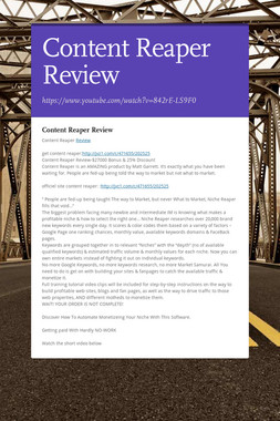 Content Reaper Review