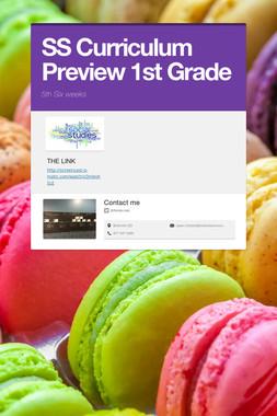 SS Curriculum Preview 1st Grade