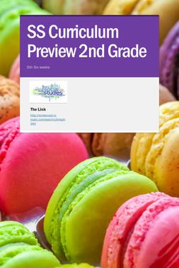 SS Curriculum Preview 2nd Grade