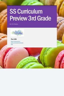SS Curriculum Preview 3rd Grade