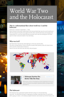 World War Two and the Holocaust