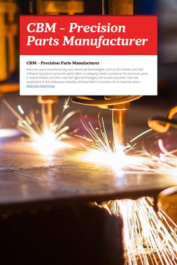 CBM - Precision Parts Manufacturer
